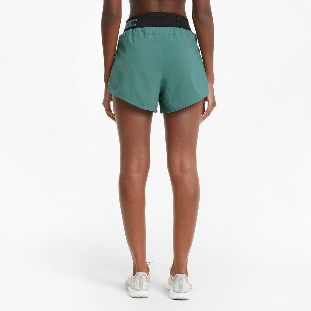 """Изображение Puma Шорты COOLadapt Woven 3"""" Women's Running Shorts #2: Blue Spruce"""