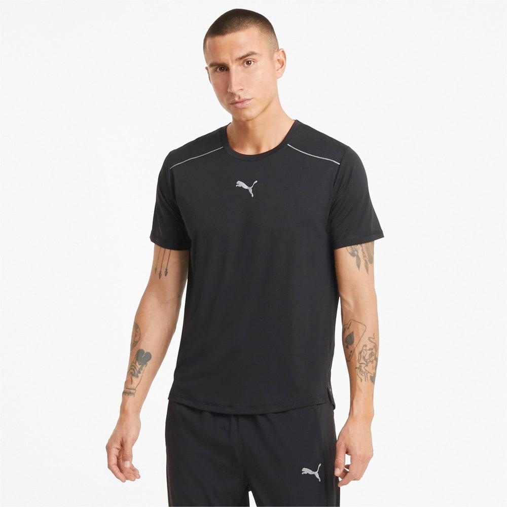 Изображение Puma Футболка COOLadapt Short Sleeve Men's Running Tee #1: Puma Black