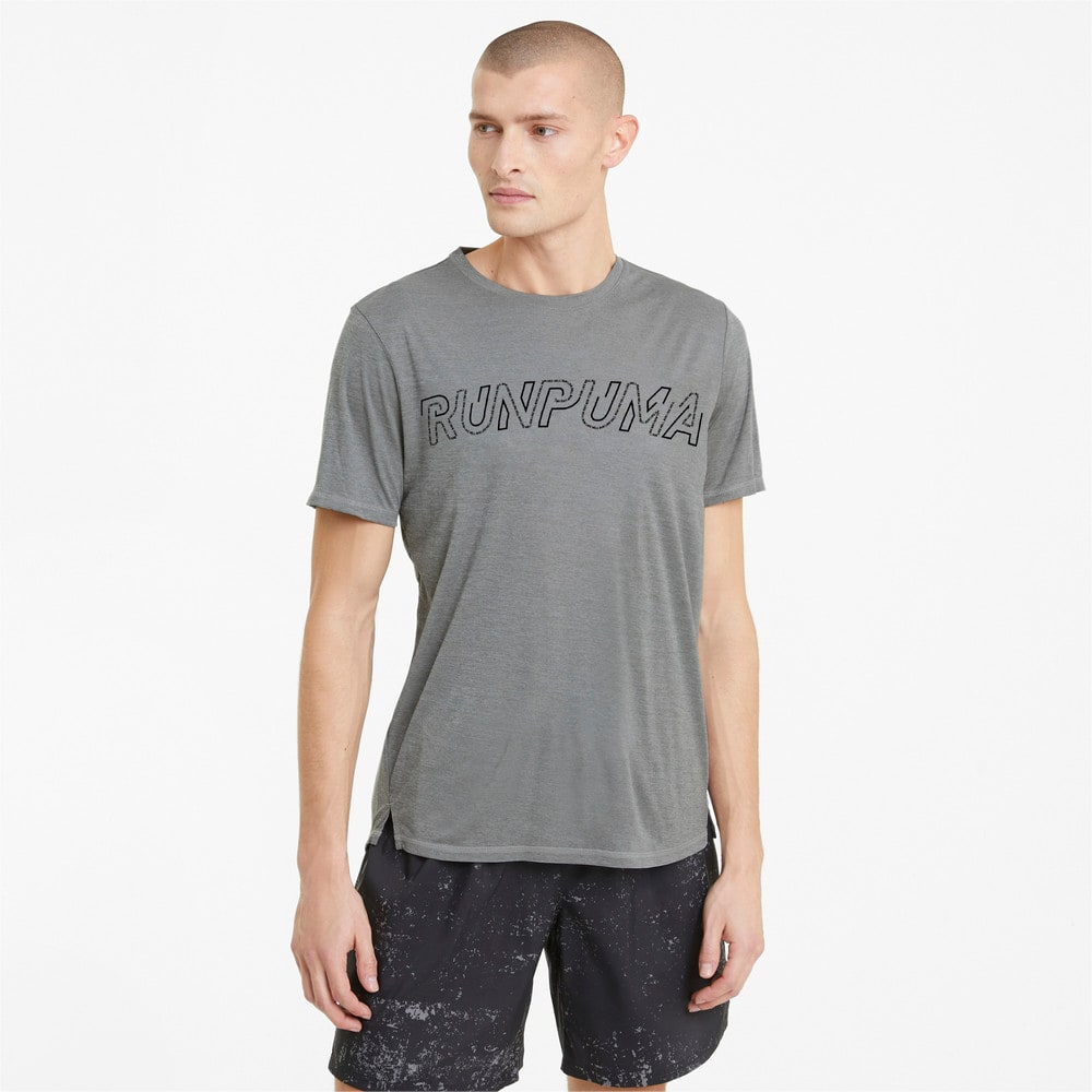 Изображение Puma Футболка Logo Short Sleeve Men's Running Tee #1