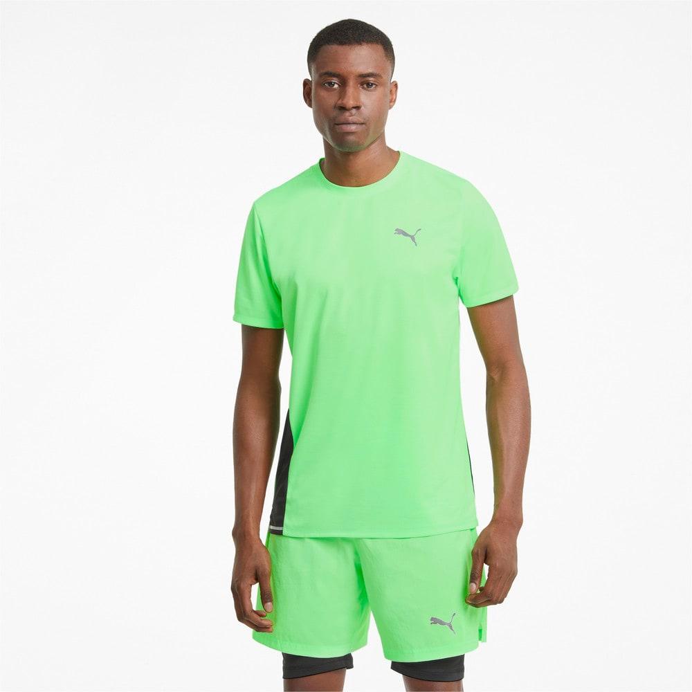 Изображение Puma Футболка Favourite Short Sleeve Men's Running Tee #1: Elektro Green-Puma Black