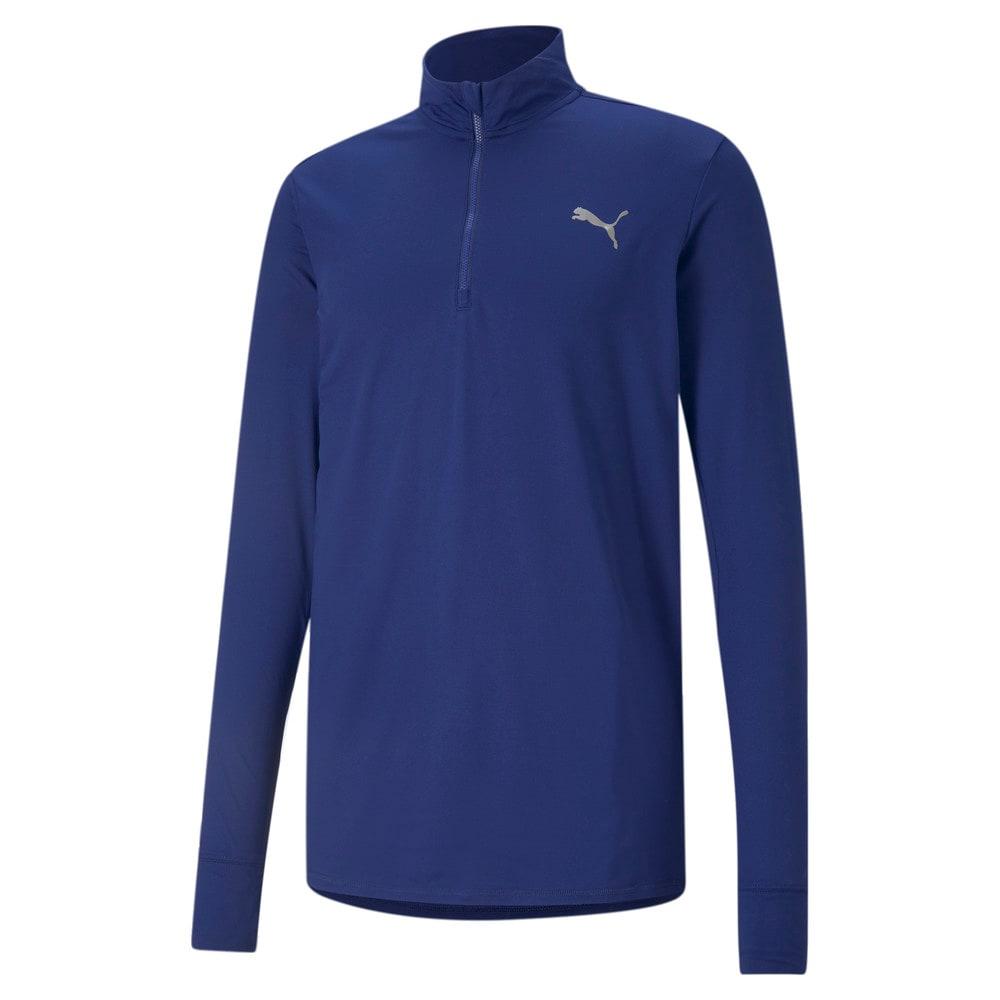 Изображение Puma Футболка с длинным рукавом Favourite Quarter-Zip Men's Running Tee #1