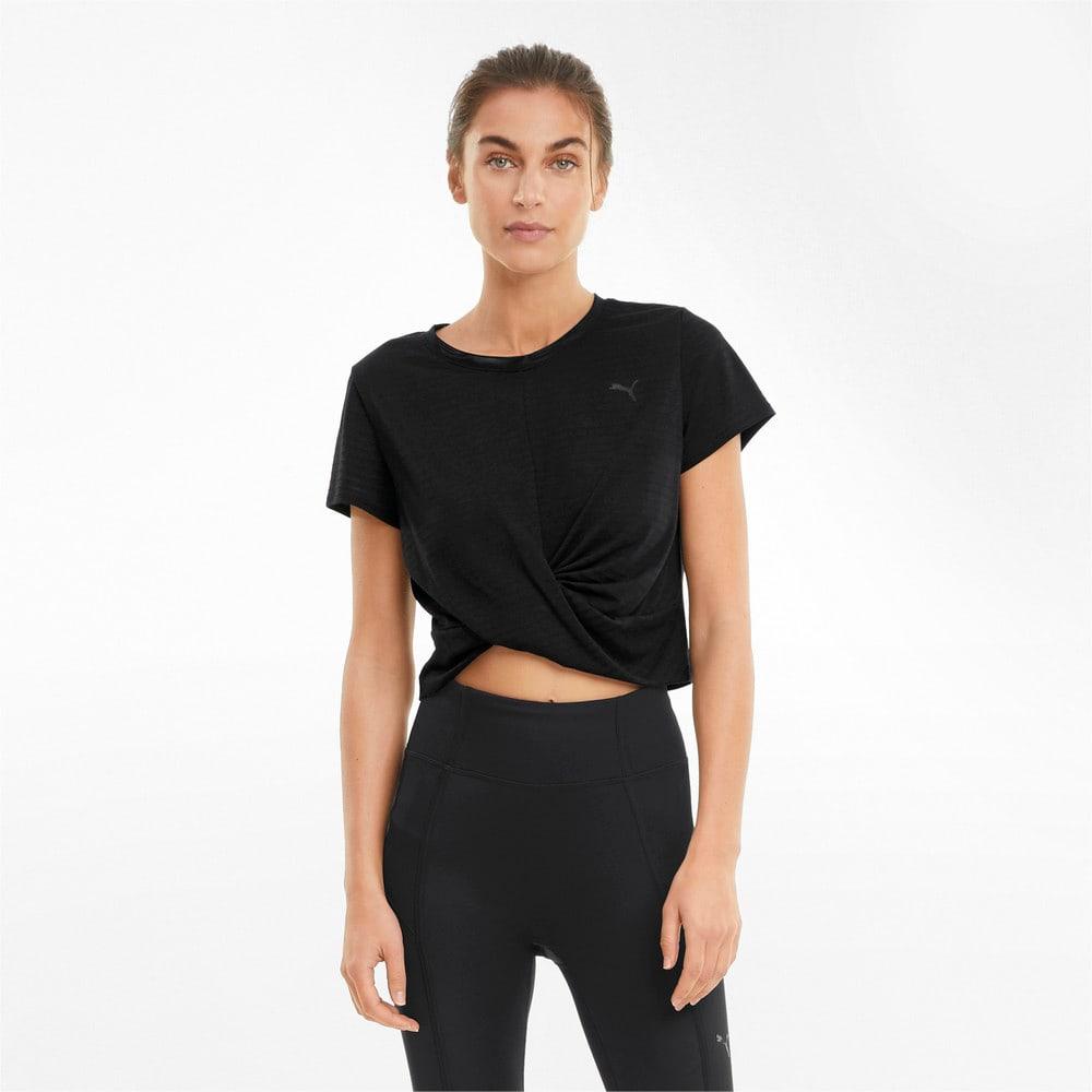 Image PUMA Camiseta Studio Twist Burnout Training Feminina #1