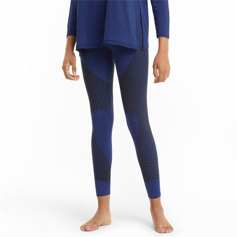 Изображение Puma Леггинсы Studio Porcelain Full-Length Women's Training Leggings #1: Elektro Blue-print
