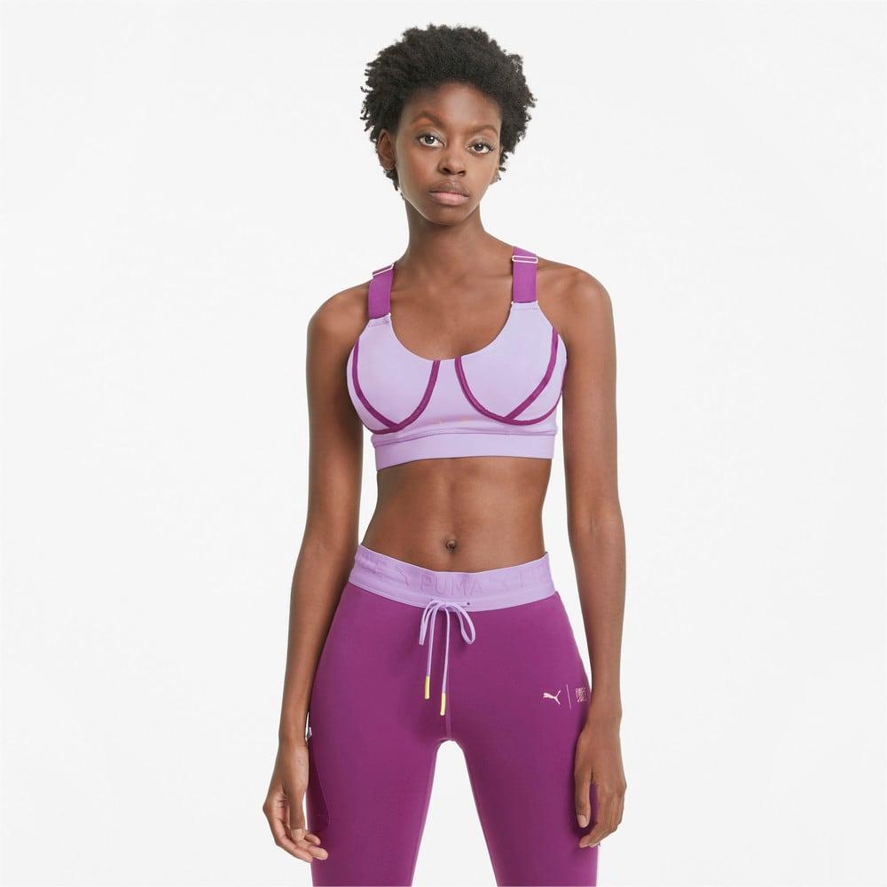 Зображення Puma Бра PUMA x FIRST MILE Mid Impact Padded Women's Training Bra #1: Light Lavender-Byzantium