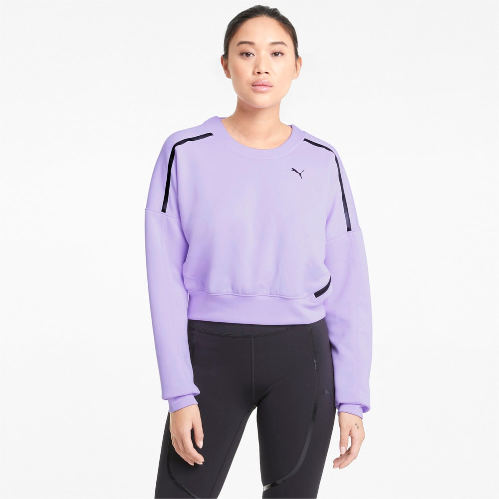 Зображення Puma Толстовка Zip Crew Women's Training Sweatshirt #1