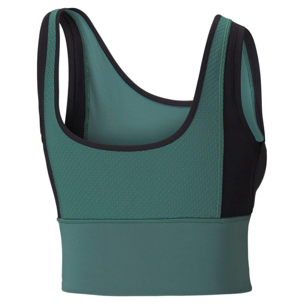 Зображення Puma Топ Fitted Women's Training Crop Top #2: Blue Spruce-Puma Black-multi