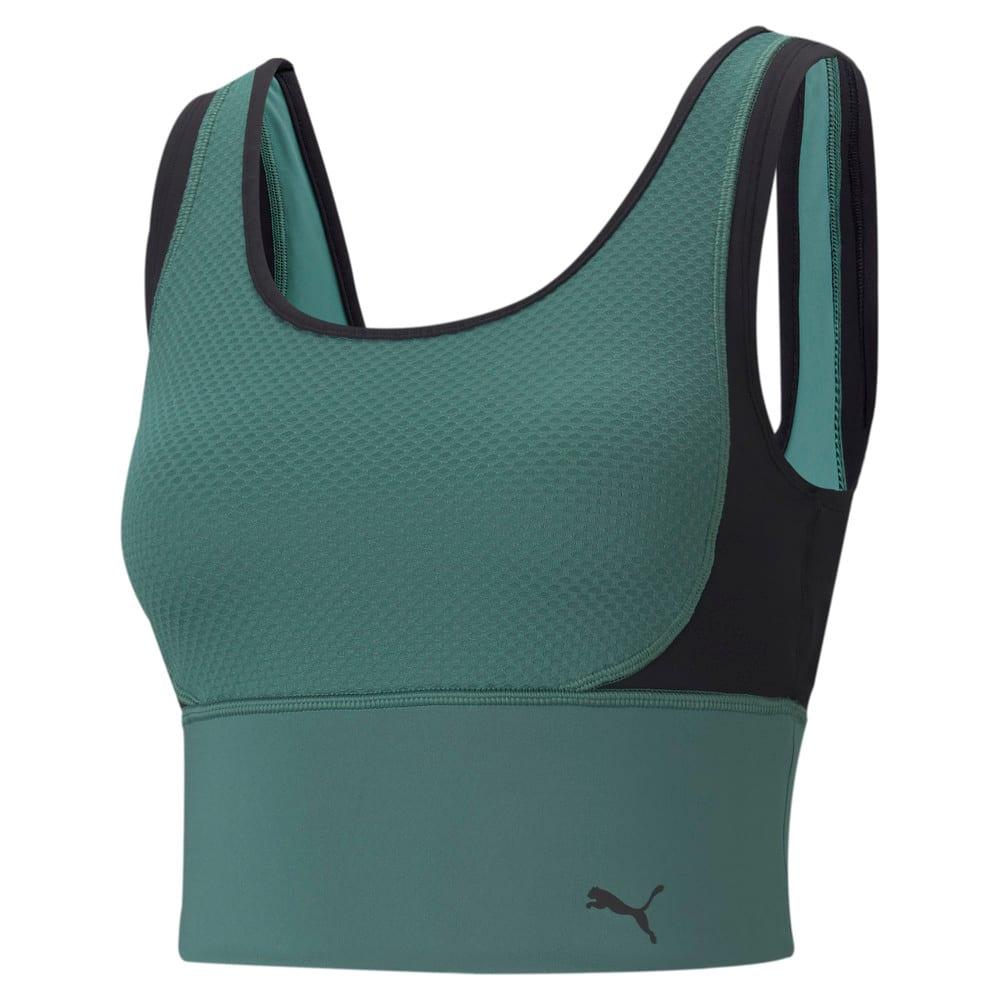 Зображення Puma Топ Fitted Women's Training Crop Top #1: Blue Spruce-Puma Black-multi