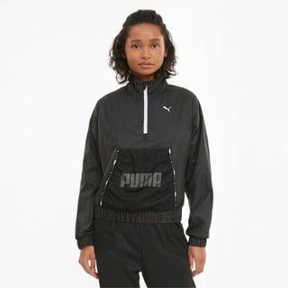 Изображение Puma Олимпийка Logo Women's Quarter-Zip Training Pullover