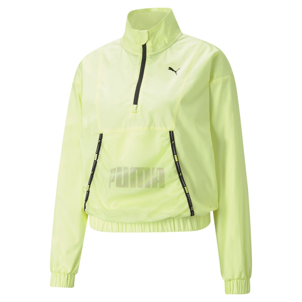 Изображение Puma Олимпийка Logo Women's Quarter-Zip Training Pullover #1