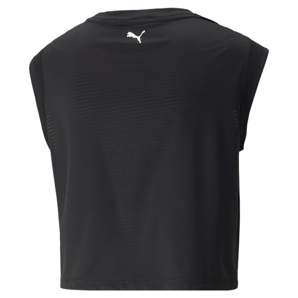 Изображение Puma Топ Logo Cap Sleeve Women's Training Tee #2