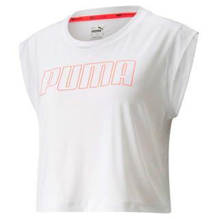 Изображение Puma Топ Logo Cap Sleeve Women's Training Tee
