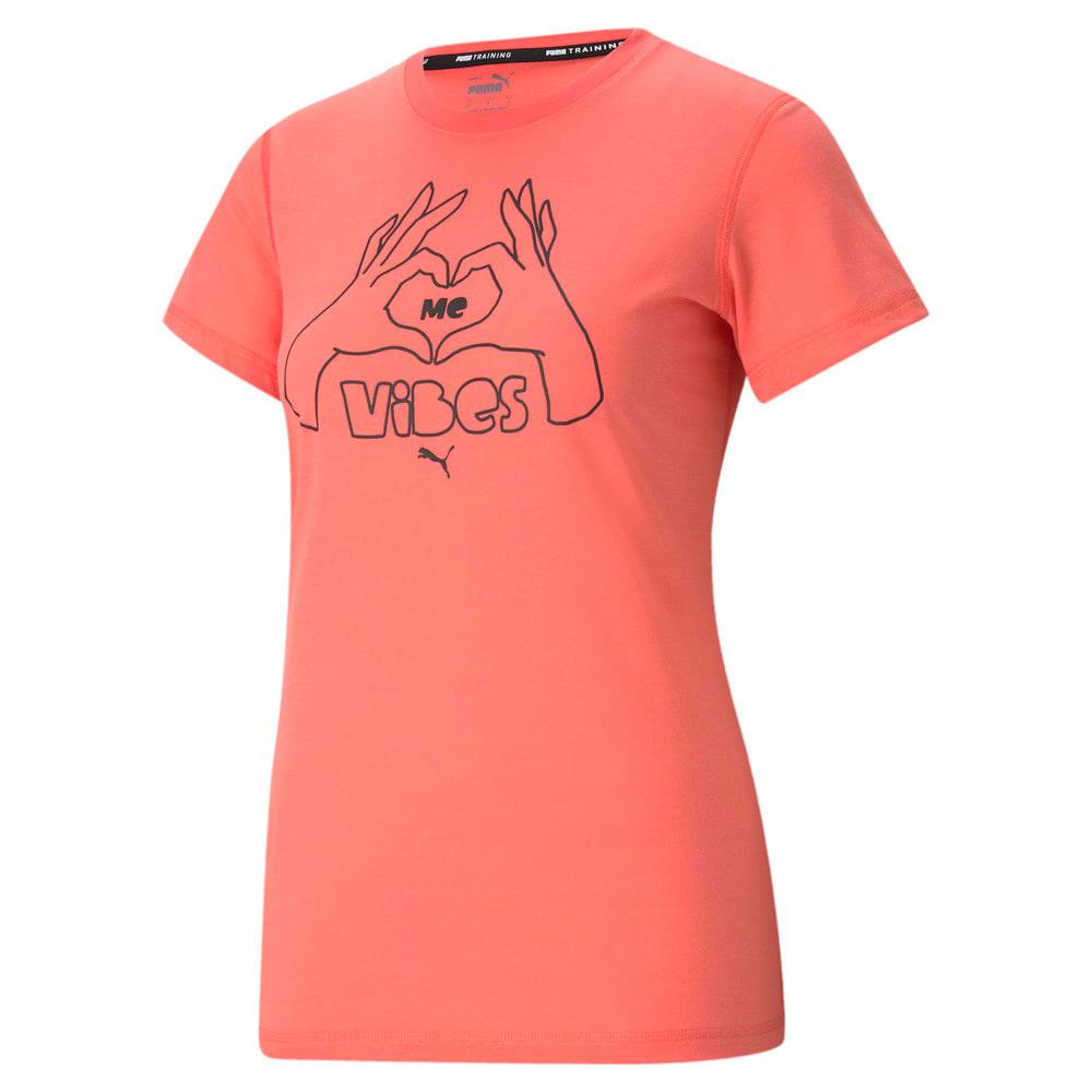 Изображение Puma Футболка Performance Slogan Short Sleeve Women's Training Tee #1: Georgia Peach