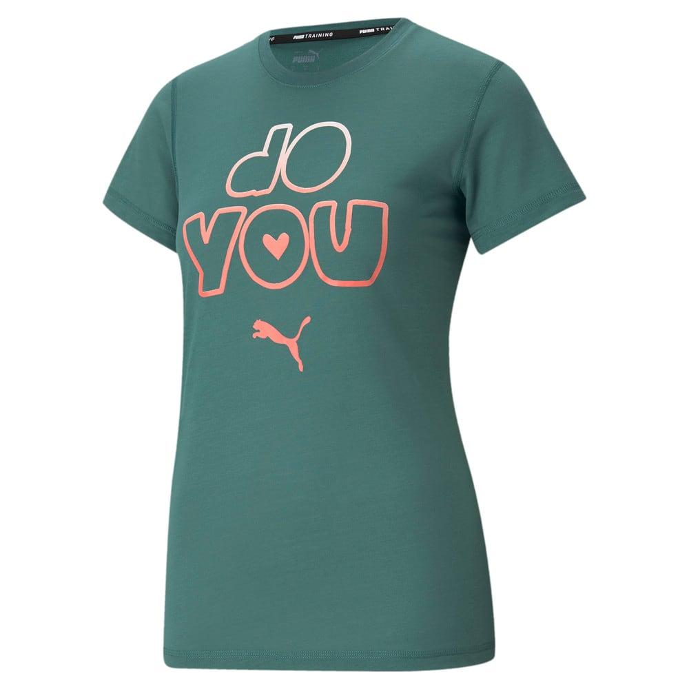 Зображення Puma Футболка Performance Slogan Short Sleeve Women's Training Tee #1: Blue Spruce