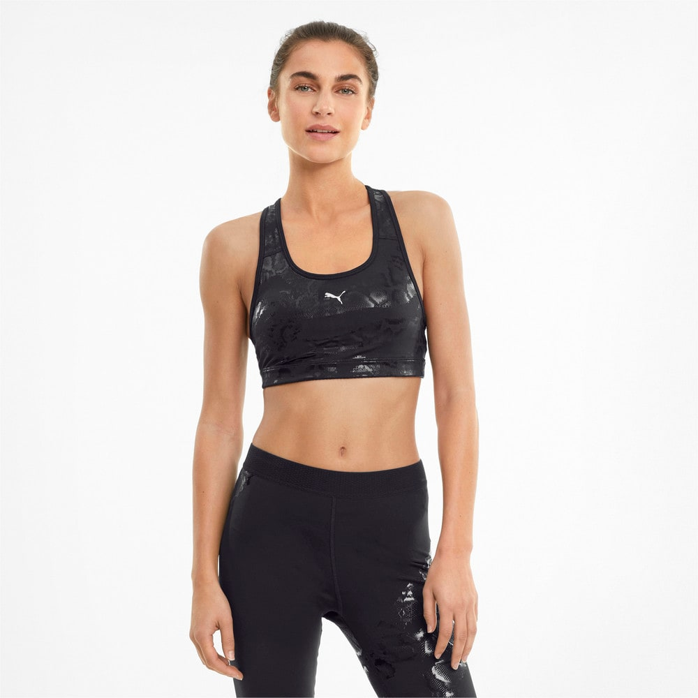 Изображение Puma Бра Mid 4Keeps Graphic Women's Training Bra #1