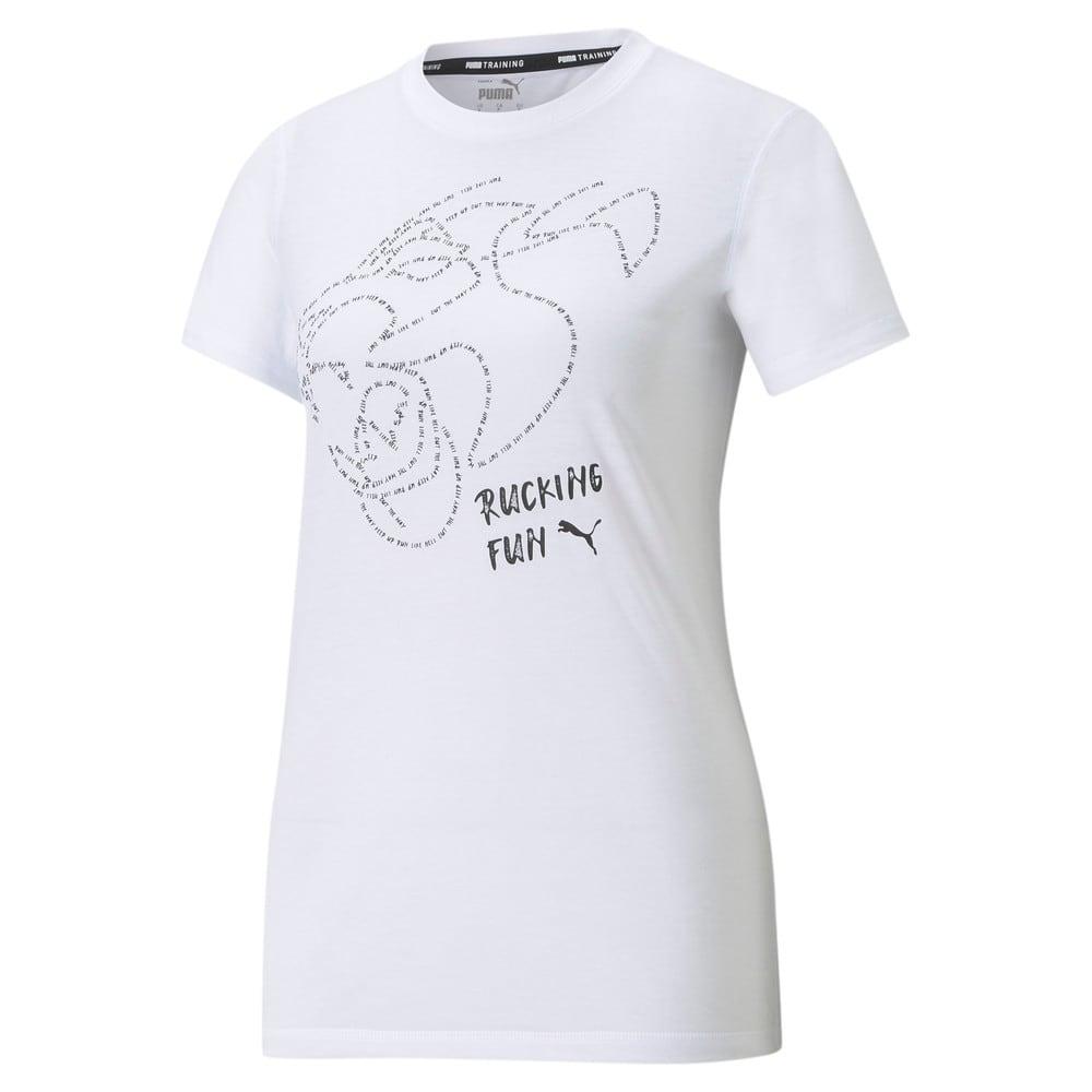 Изображение Puma Футболка Graphic Short Sleeve Women's Training Tee #1