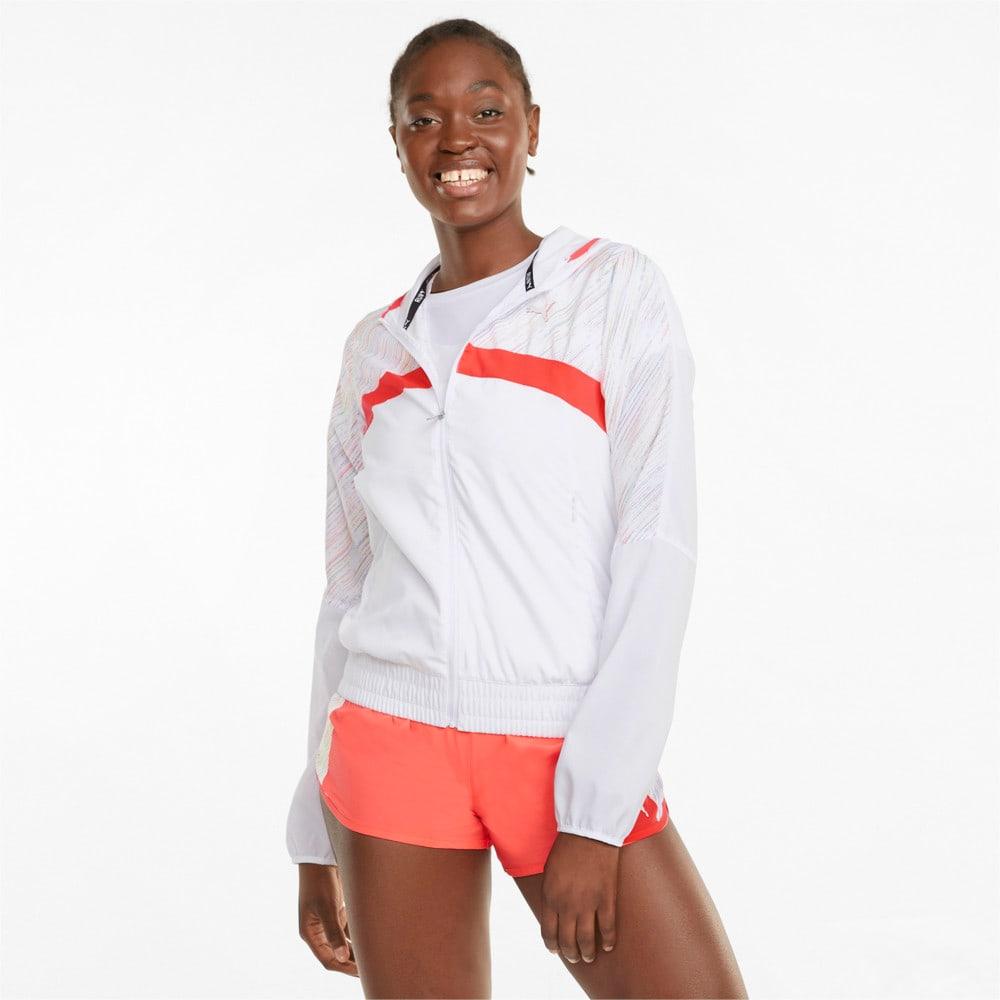 Görüntü Puma GRAPHIC Kapüşonlu Kadın Koşu Ceket #1