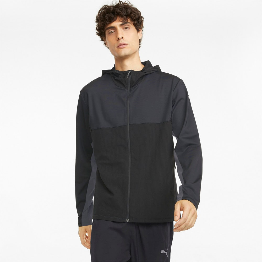 Изображение Puma Олимпийка COOLADAPT Full-Zip Men's Running Jacket #1: Puma Black-CASTLEROCK