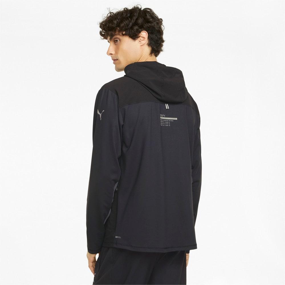 Изображение Puma Олимпийка COOLADAPT Full-Zip Men's Running Jacket #2: Puma Black-CASTLEROCK