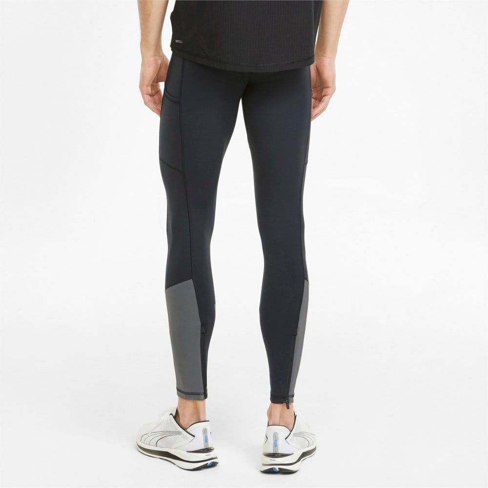 Изображение Puma Леггинсы COOLADAPT Long Men's Running Tights #2: Puma Black-CASTLEROCK