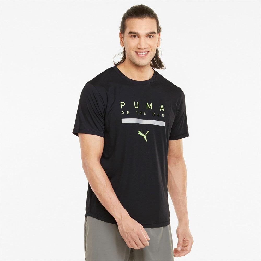 Зображення Puma Футболка Logo Short Sleeve Men's Running Tee #1: Puma Black