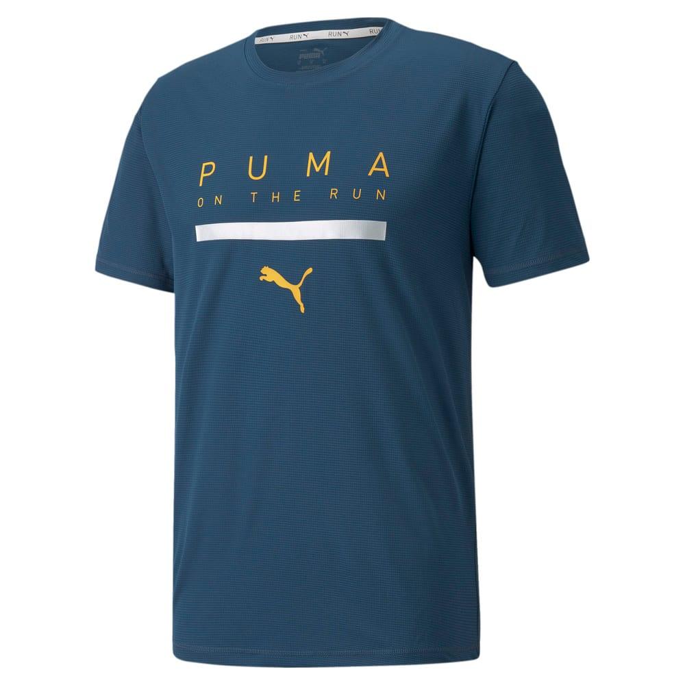 Зображення Puma Футболка Logo Short Sleeve Men's Running Tee #1: Intense Blue