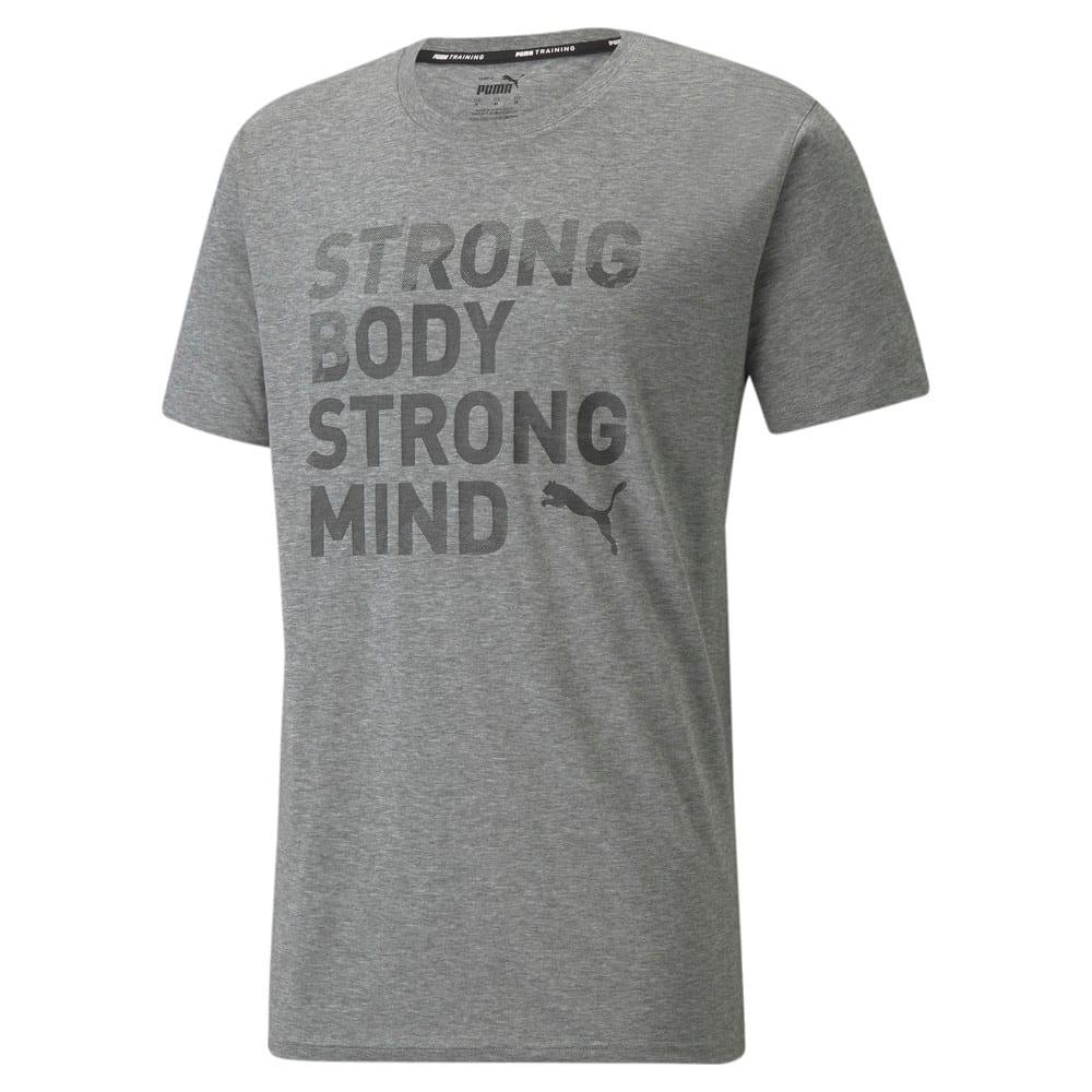 Зображення Puma Футболка Performance Slogan Short Sleeve Men's Training Tee #1: Medium Gray Heather