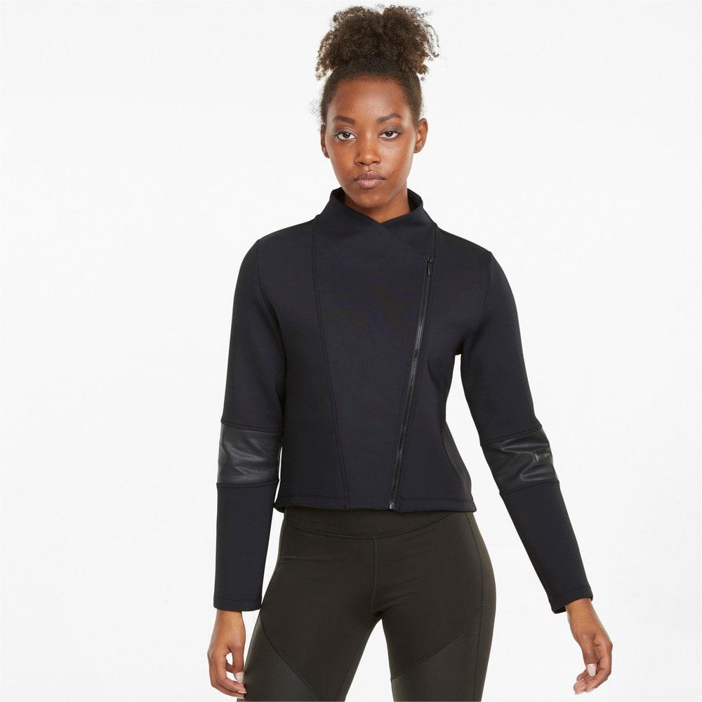 Изображение Puma Олимпийка Moto Women's Training Jacket #1: Puma Black