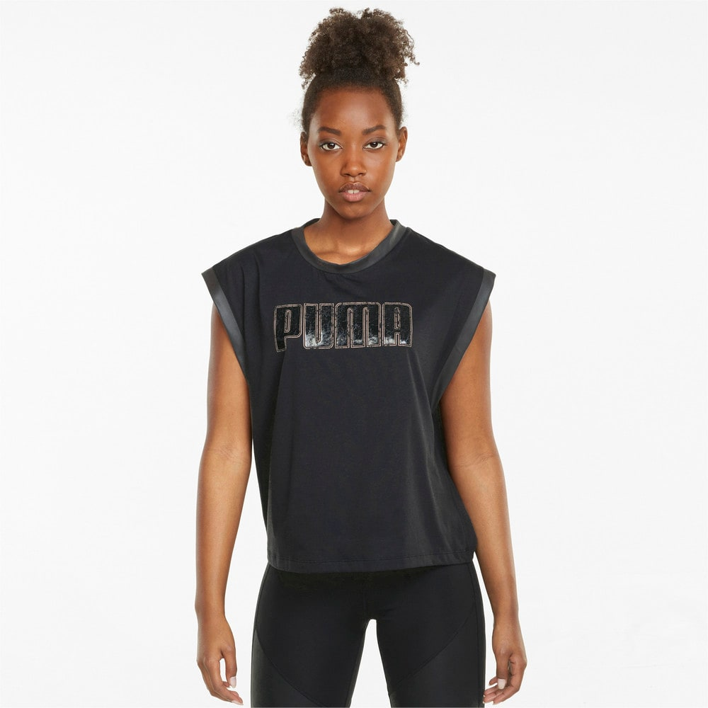 Изображение Puma Майка Moto Women's Training Tank Top #1: Puma Black