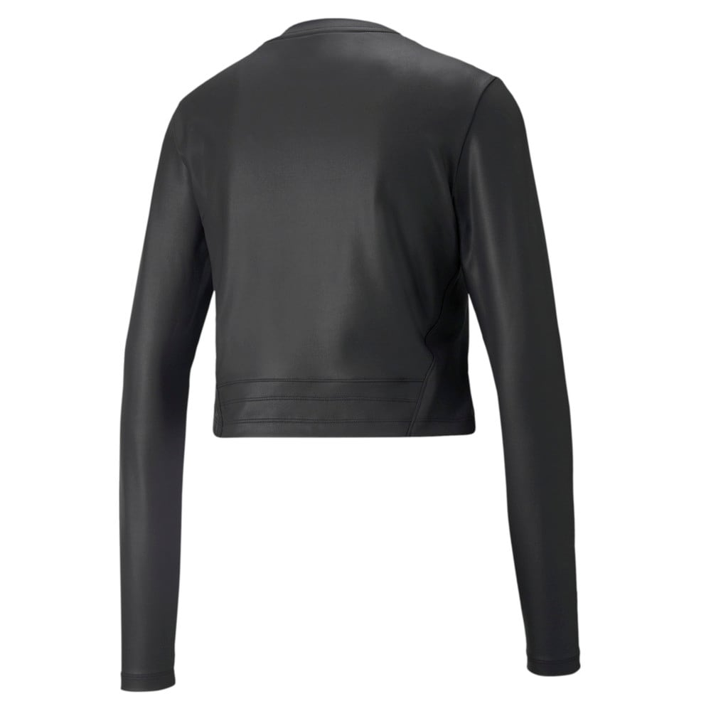 Изображение Puma Футболка с длинным рукавом Moto Fitted Long Sleeve Women's Training Tee #2: Puma Black