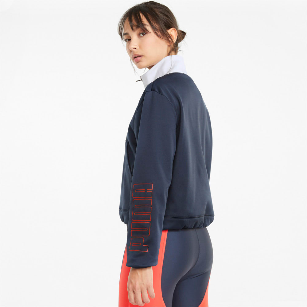 Изображение Puma Толстовка PWR Fleece Logo Quarter-Zip Training Sweatshirt #2: Spellbound