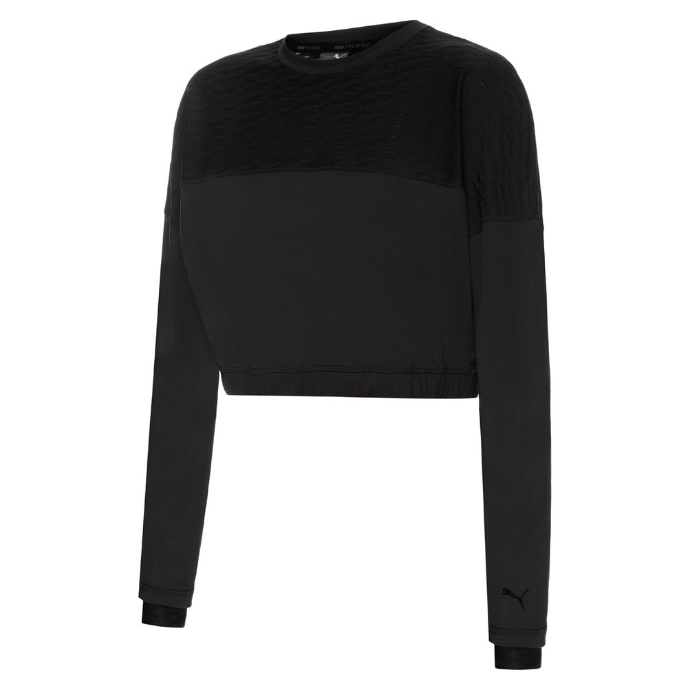 Изображение Puma Толстовка Flawless Crew Neck Women's Training Sweatshirt #1: Puma Black