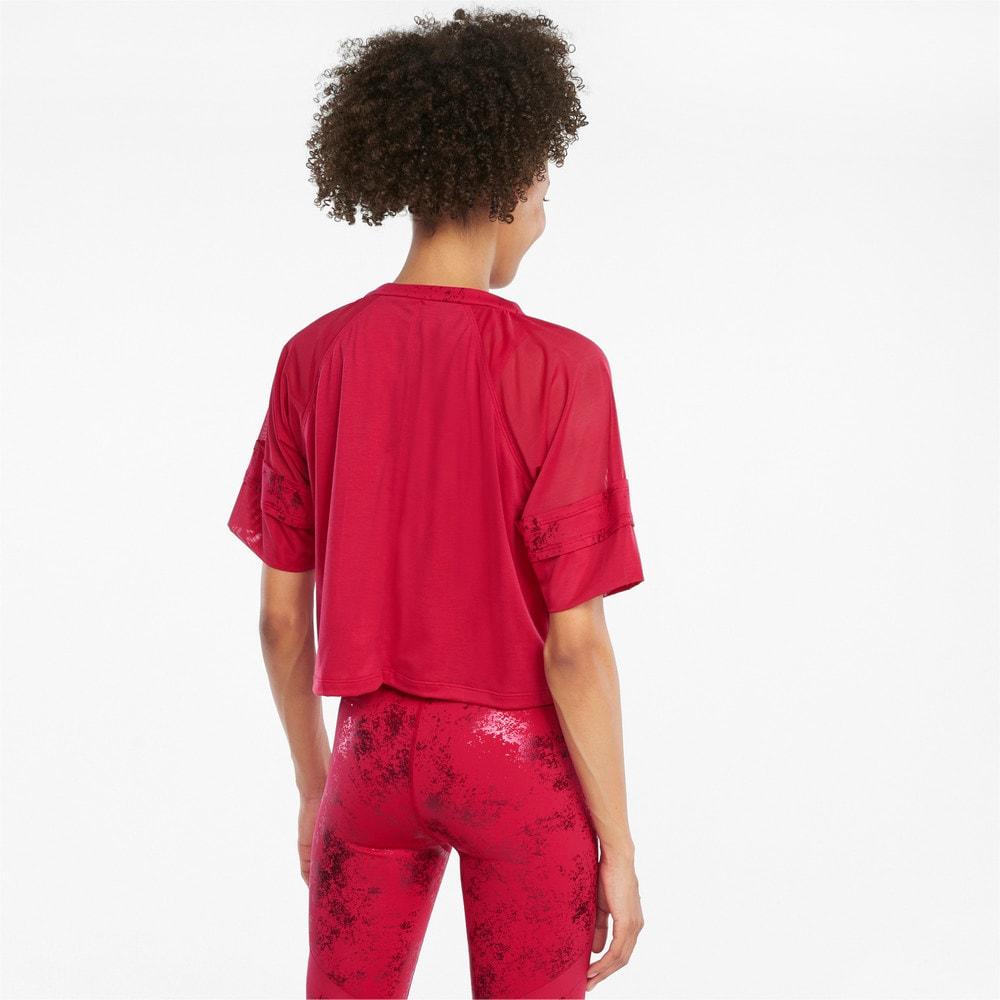 Зображення Puma Топ Fashion Luxe Raglan Women's Training Top #2: Persian Red-Matte foil print