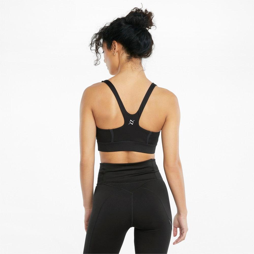 Изображение Puma Бра EXHALE Mesh Curve Women's Training Bra #2: Puma Black