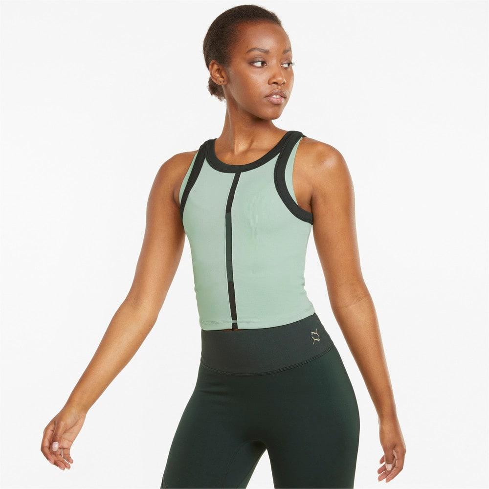 Зображення Puma Топ EXHALE Ribbed Women's Training Crop Top #1: Frosty Green