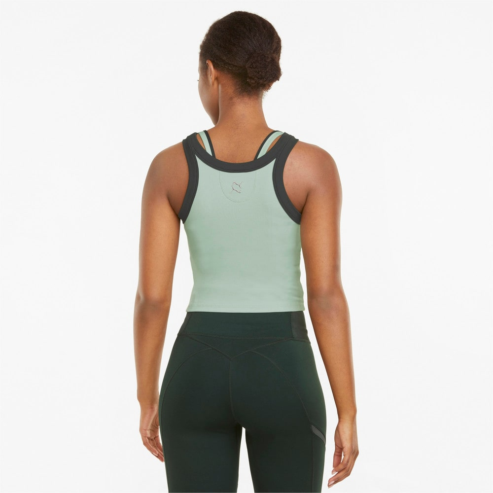 Зображення Puma Топ EXHALE Ribbed Women's Training Crop Top #2: Frosty Green