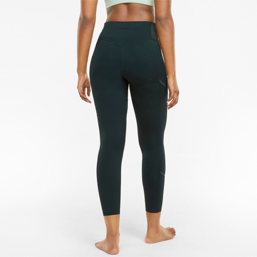 Зображення Puma Легінси EXHALE Mesh Curve Women's Training Leggings #2: Midnight Green