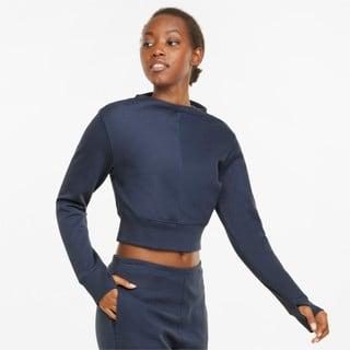 Изображение Puma Футболка с длинным рукавом Exhale Mock Neck Ribbed Long Sleeve Women's Training Tee