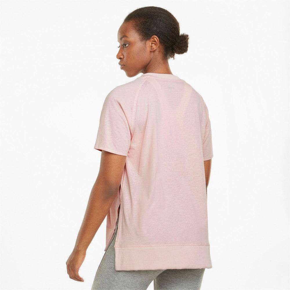 Görüntü Puma STUDIO Relaxed RIBBED TRIM Kadın Antrenman T-shirt #2