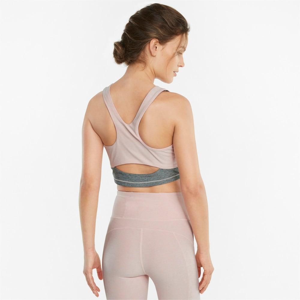 Imagen PUMA Top de training corto con espalda de estilo nadadora para mujer STUDIO Yogini Luxe #2