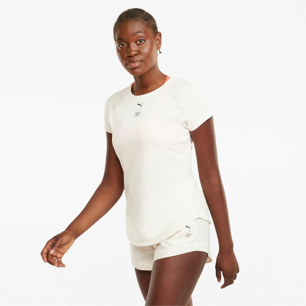 Зображення Puma Футболка PUMA x FIRST MILE High Neck Women's Training Tee #1: Ivory Glow