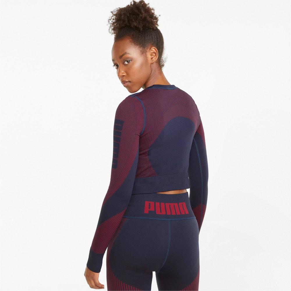 Image Puma Seamless Long Sleeve Fitted Women's Training Tee #2