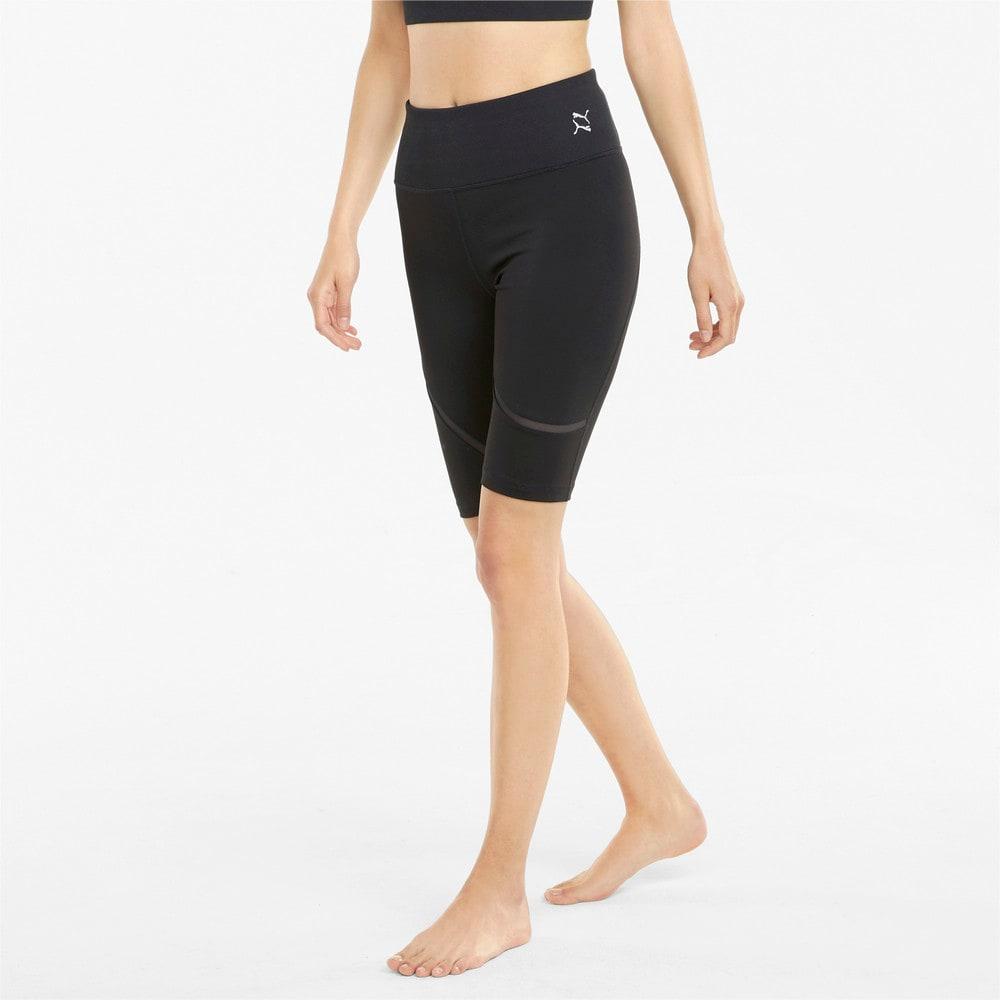 Зображення Puma Шорти Exhale Mesh Curve Women's Training Bike Shorts #1: Puma Black