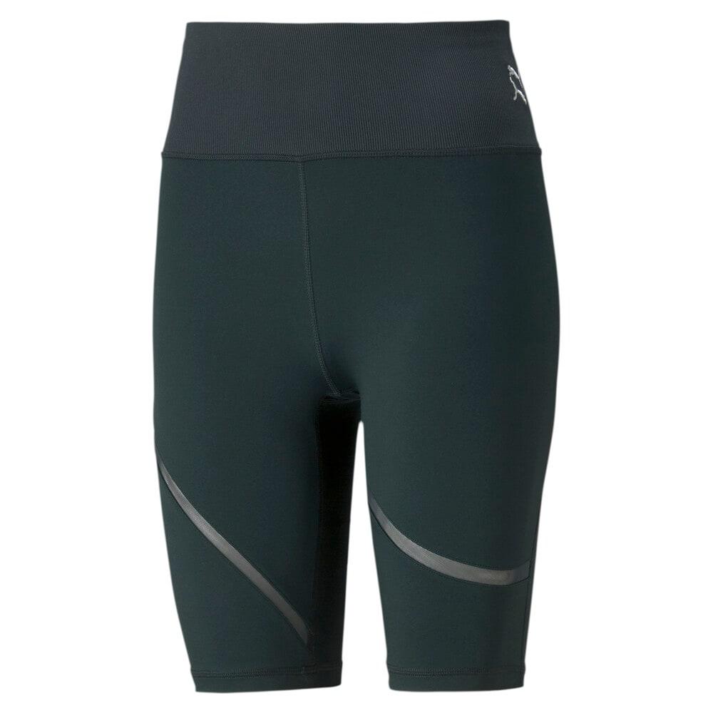 Зображення Puma Шорти Exhale Mesh Curve Women's Training Bike Shorts #1: Midnight Green