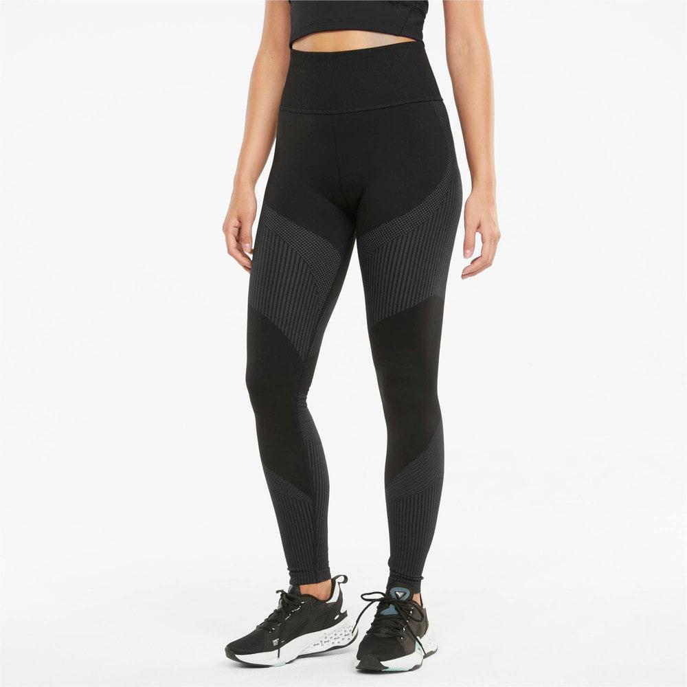 Зображення Puma Легінси Seamless High Waist 7/8 Women's Training Leggings #1: Puma Black-Asphalt