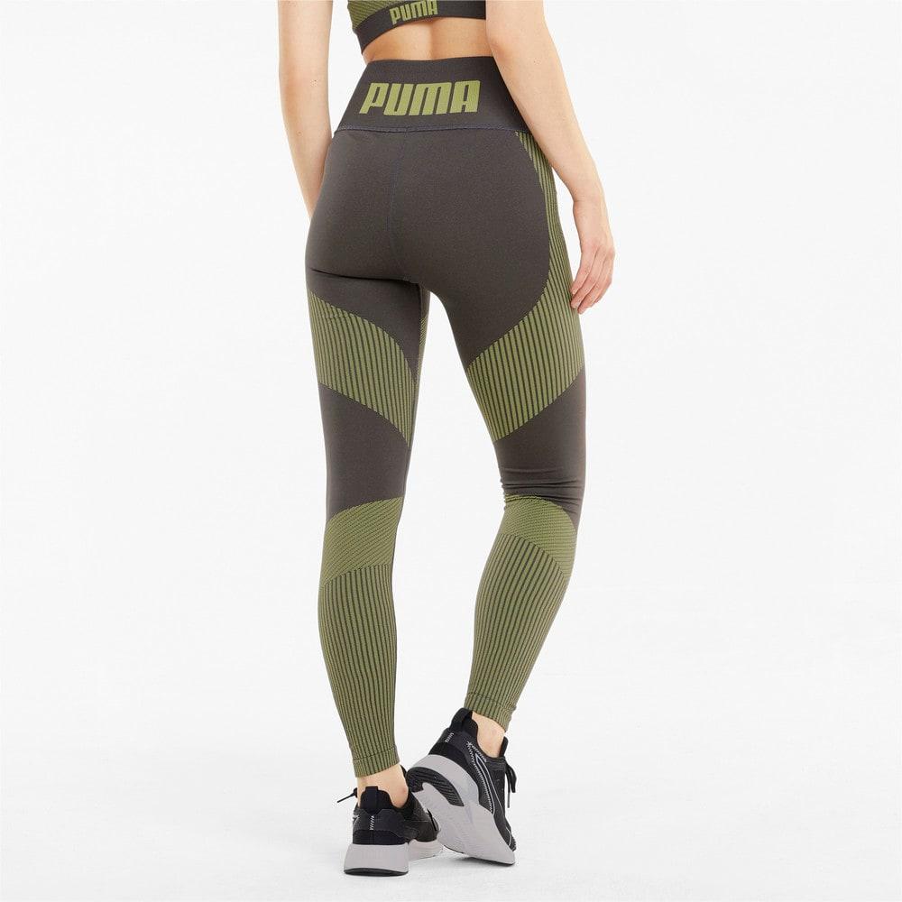 Зображення Puma Легінси Seamless High Waist 7/8 Women's Training Leggings #2: Asphalt-Yellow Glow