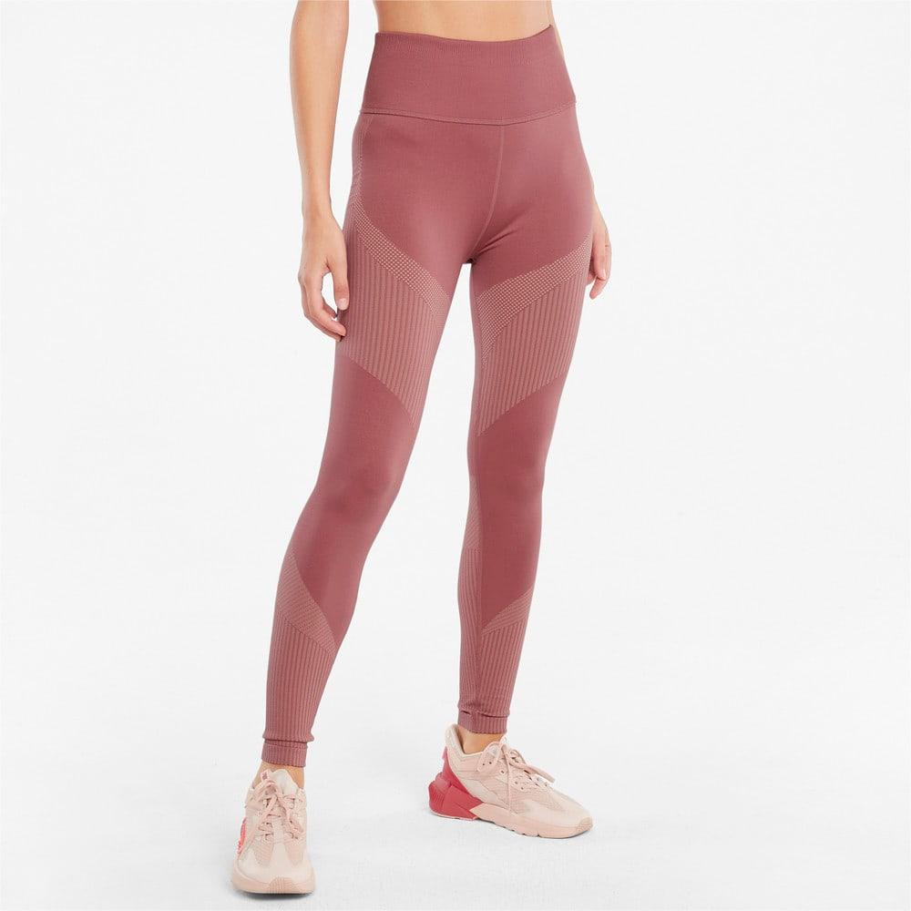 Изображение Puma Леггинсы Seamless High Waist 7/8 Women's Training Leggings #1: Mauvewood-Peach Parfait