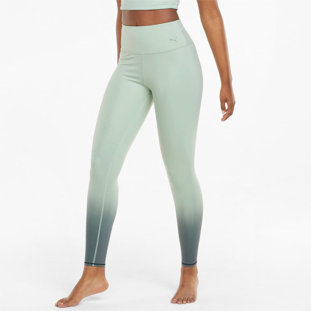 Зображення Puma Легінси STUDIO Ombre High Waist Full-Length Women's Training Leggings #1: Frosty Green-Midnight Green-ombre print