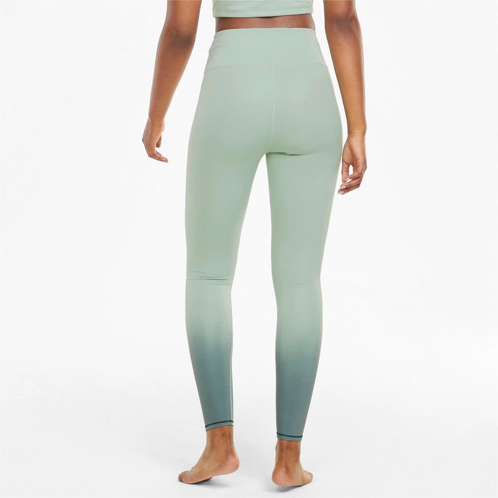 Зображення Puma Легінси STUDIO Ombre High Waist Full-Length Women's Training Leggings #2: Frosty Green-Midnight Green-ombre print