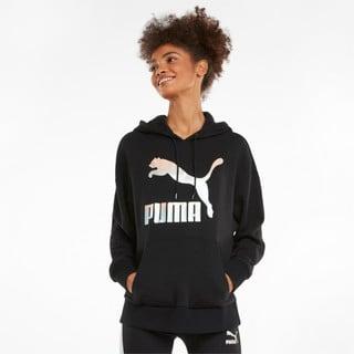 Image PUMA Moletom com Capuz Classics Logo Feminino