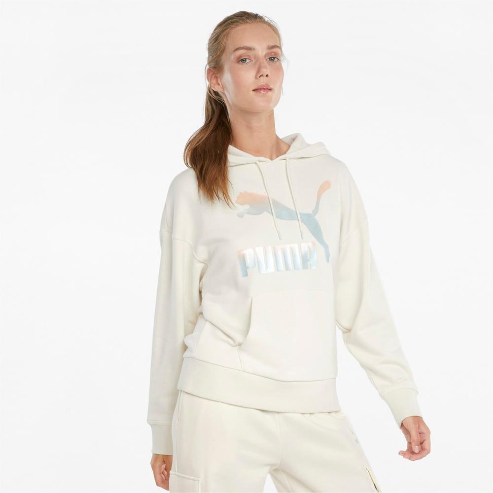 Изображение Puma Толстовка Classics Logo Women's Hoodie #1: Ivory Glow-Gloaming